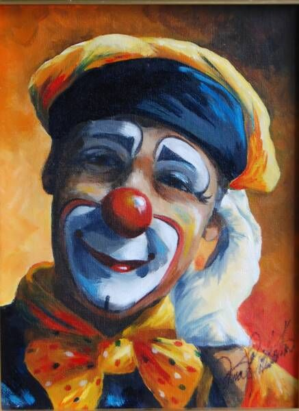 Vintage Sad Clown Painting – images free download