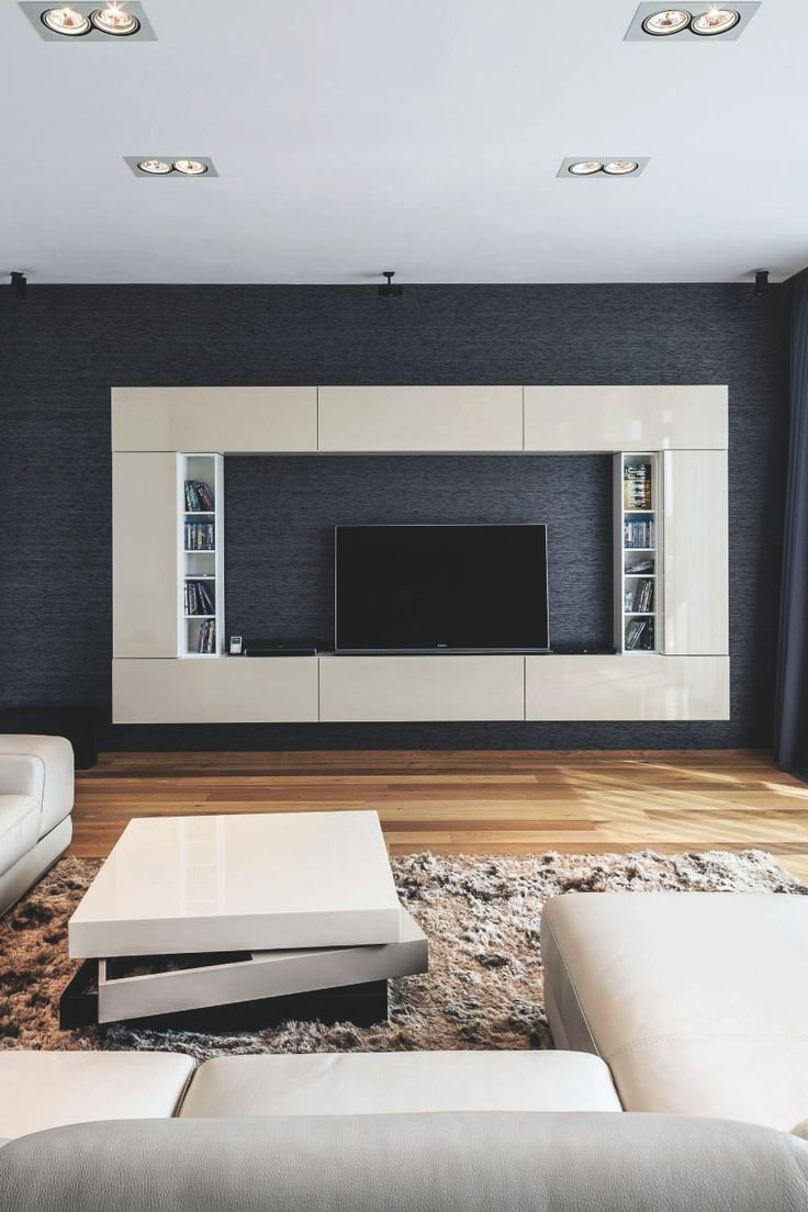 TV wall, boxy design