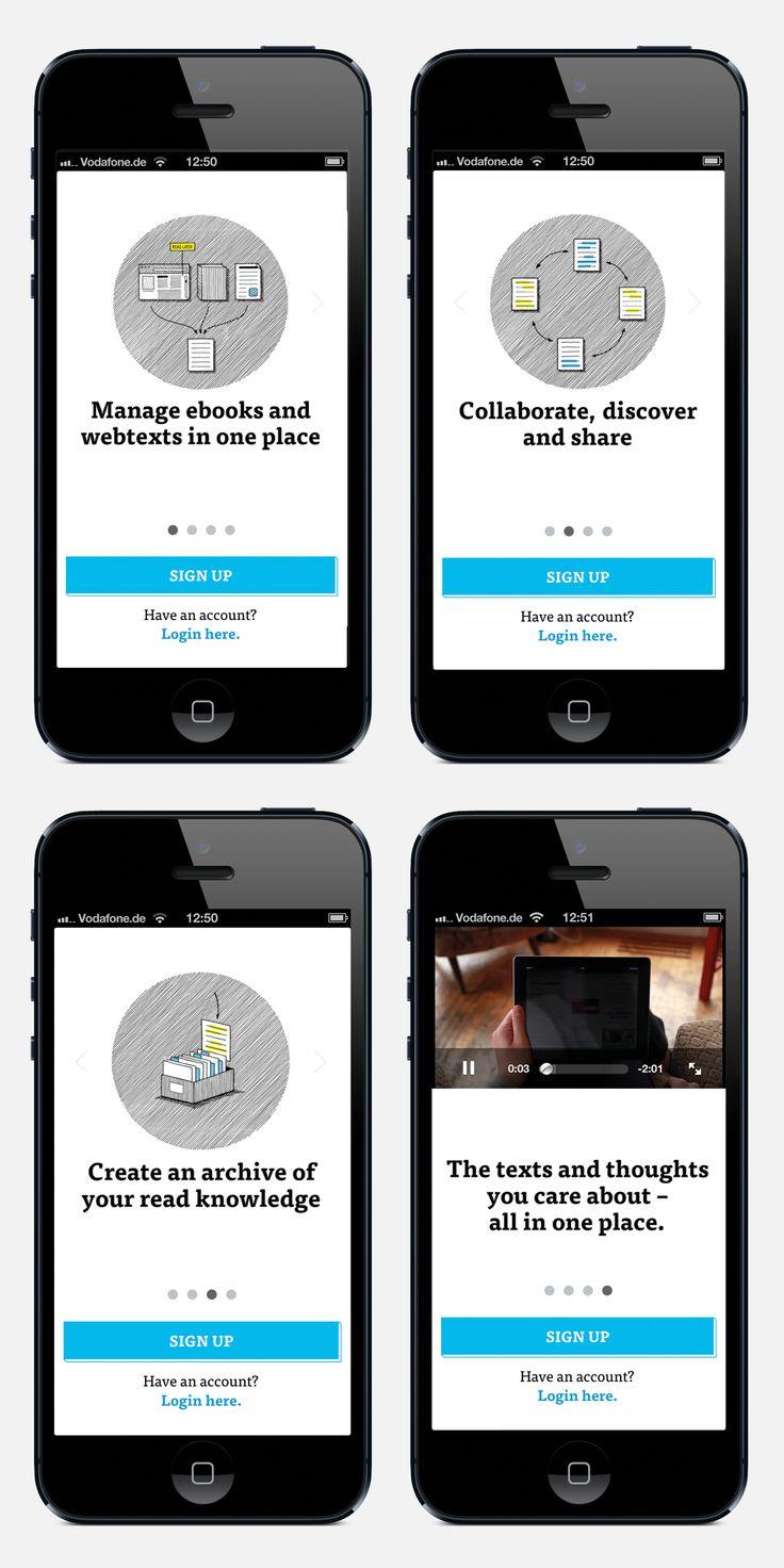 www.dotdotdot.me Sign Up Screens on iPhone