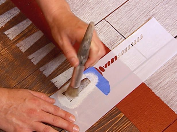 painted rugs on concrete | How to Create a Faux Rug With Paint : Decorating : Home & Garden ...