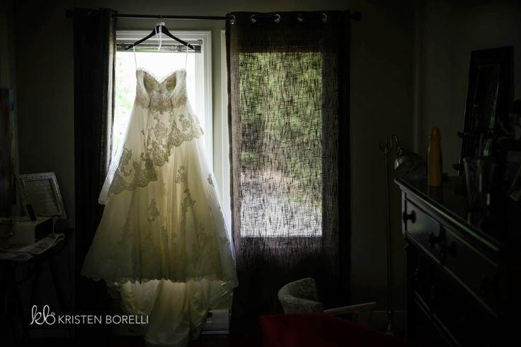 Vancouver Island Wedding Photography | Kristen Borelli Photography | Wedding dress in window