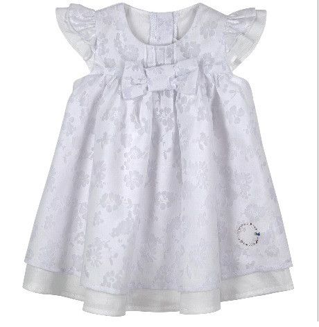Absorba Baby Dress, White with Swarovski Elements - Dandy Lions Boutique #beautifulbaby #summerdress #absorba