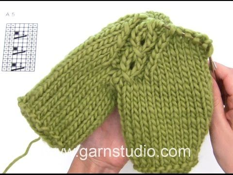 DROPS Knitting Tutorial: How to work raglan with cable - YouTube