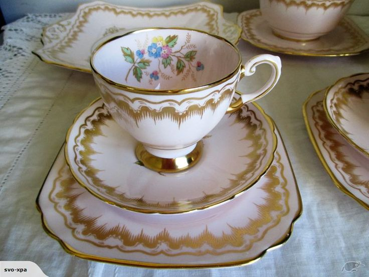 This auction is for a lovely vintage Tea for Two Tuscan Fine Bone China made in England.