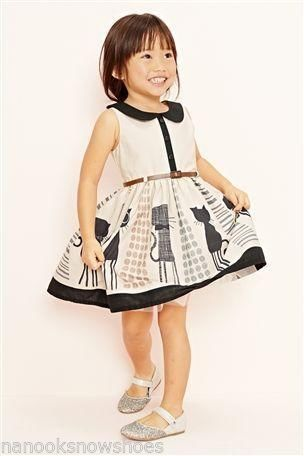 Black and White girls KittyKat dress.