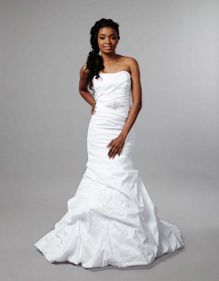 soft slim one shoulder wedding gown