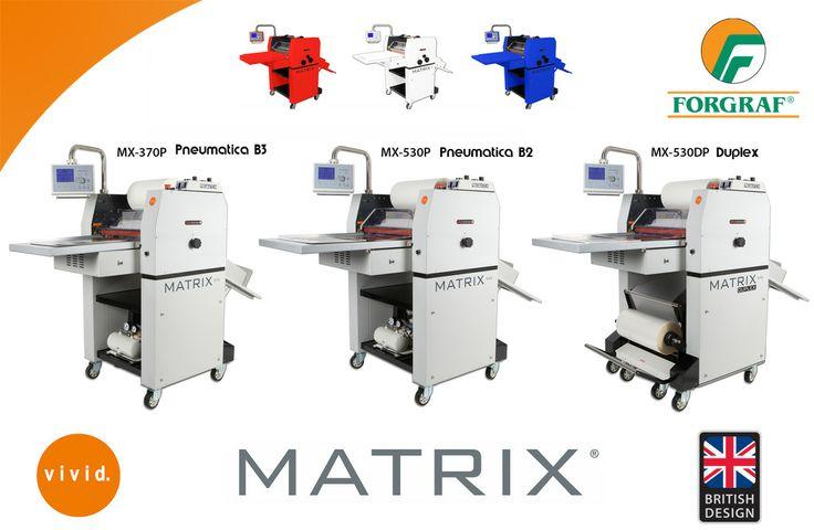Diventiamo rossi, bianchi e blu. Vivid amplia la sua gamma di plastificatrici... ... da oggi accanto ai modelli tradizionali,  lancia tre nuove versioni:  Matrix 370 Pneumatica  ( Formato B3 ) Matrix 530 Pneumatica  ( Formato B2 ) Matrix 530 Duplex ( bianco e volta in un solo passaggio )