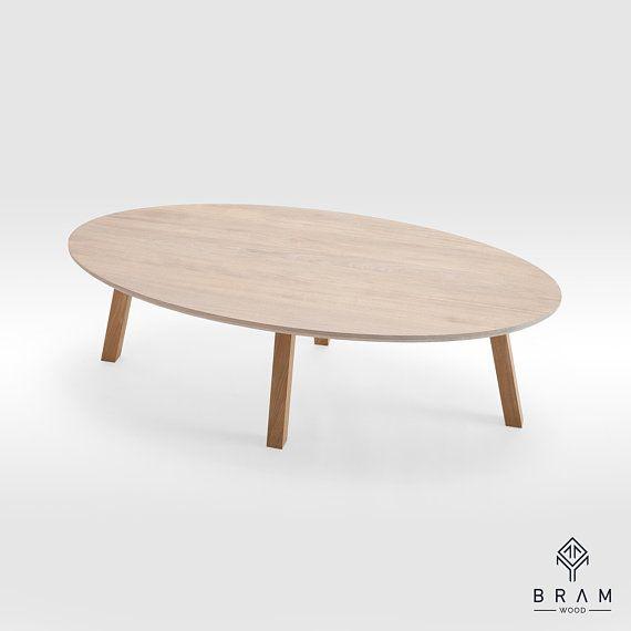 Oval Coffee Table Ellipse Coffee Table Scandinavian Minimal