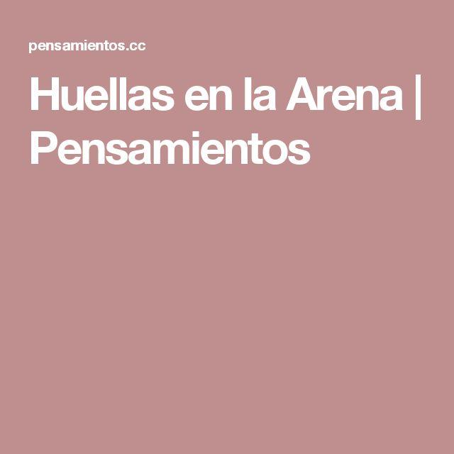 Huellas en la Arena | Pensamientos