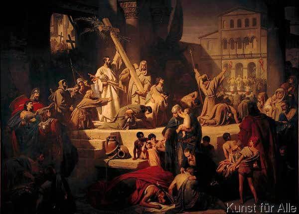 Karl Theodor Von Piloty Die Eroberung Jerusalems Durch