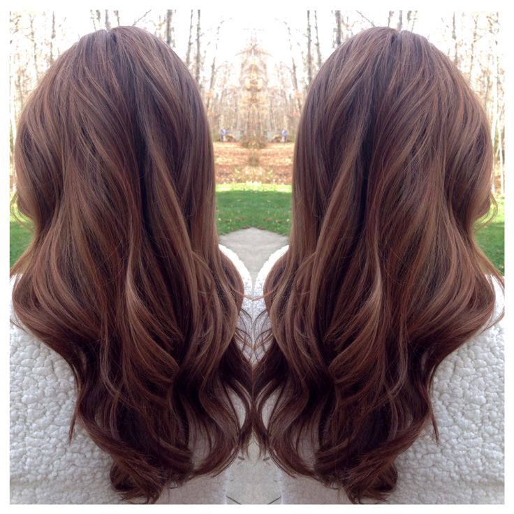 Hilight on dark hair. Soft curls on warm brown hair. Great for Fall!