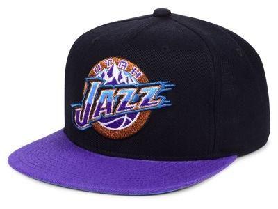 Utah Jazz Mitchell Amp Ness 110 Flexfit Nba Snapback Cap