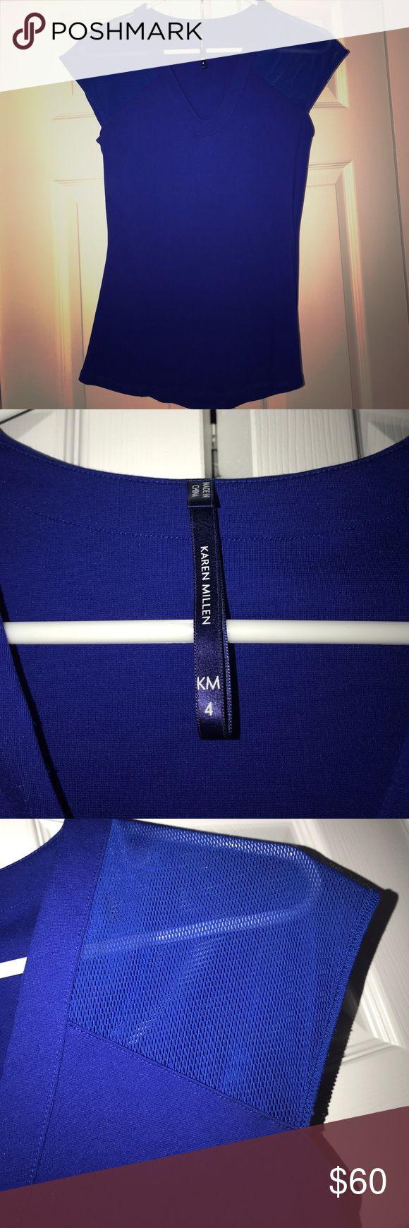 Karen Millen T Royal Blue Karen Miller T- shirt Karen Millen Tops Tees - Short Sleeve