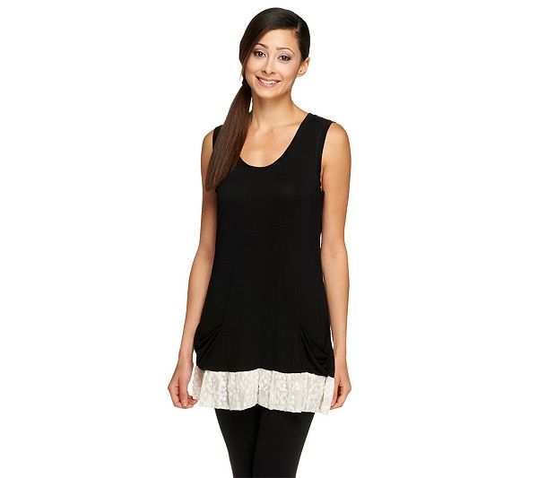 Whether you wear this pretty knit tank under a blazer or pair it with an extra-long necklace, it's sure to add a touch of femininity to your look. Page 1 QVC.com