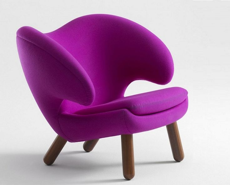 Beautiful Purple Color Chair Design Id520 - Stylish Chairs Design - Furniture Designs - Product Design