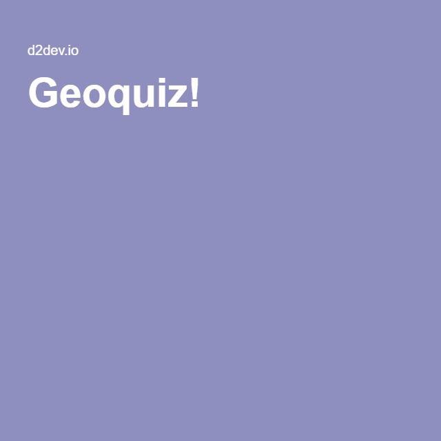 Geoquiz!