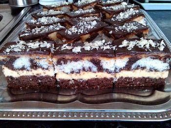 Nagyon finom kakaós-kókuszos sütemény a Panda maci szelet