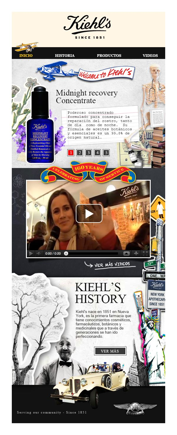 Kiehl's Fanpage (2011) by Roberto Uribe. http://bit.ly/1riL5S5