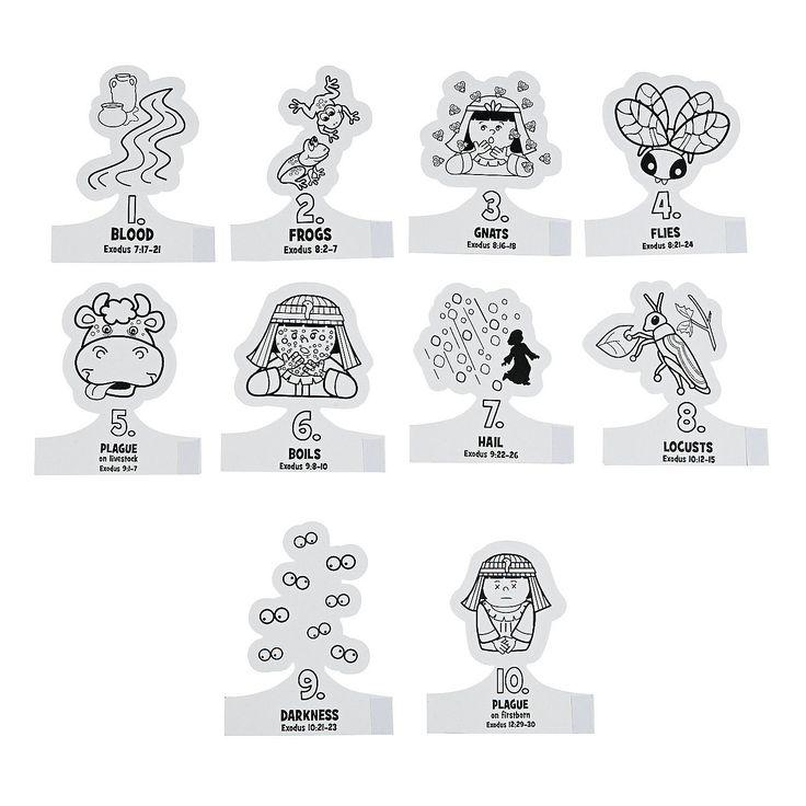 Color Your Own 10 Plagues Finger Puppets OrientalTradingcom