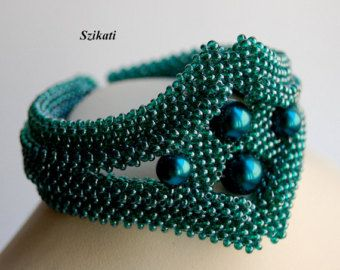 Seme di bronzo iridescente Bead Bracciale istruzione di Szikati