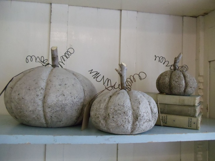 concrete pumpkins.....