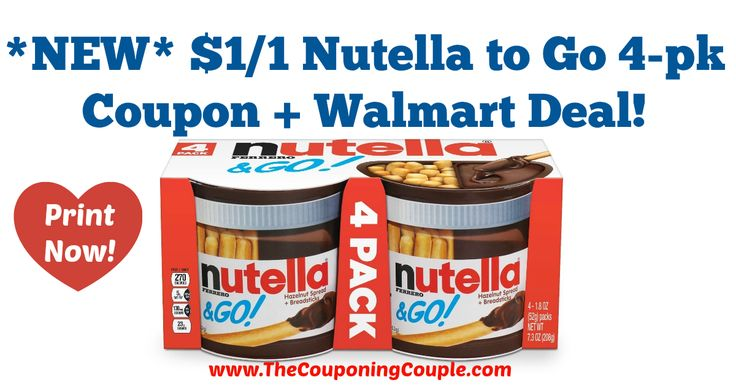 AWESOME NEW COUPON!! *NEW* $1/1 Nutella to Go 4-pk Coupon + Walmart Deal!  Click the link below to get all of the details ► http://www.thecouponingcouple.com/new-11-nutella-to-go-4-pk-coupon-walmart-deal/ #Coupons #Couponing #CouponCommunity  Visit us at http://www.thecouponingcouple.com for more great posts!