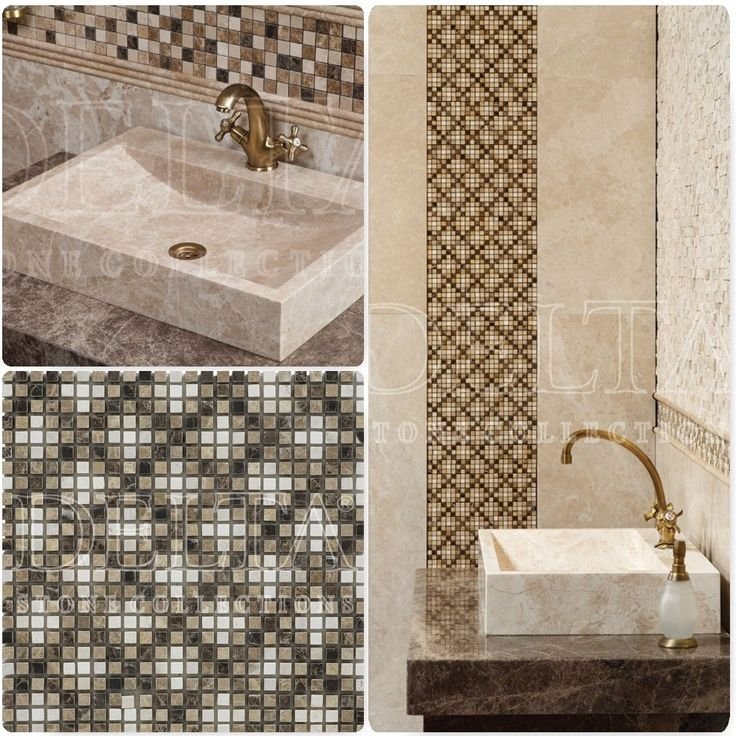 139 best ideas about bathrooms on pinterest monaco for Mosaic tile vanity top