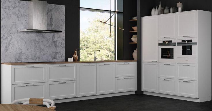 Med Modu Frame får du en moderne version af et klassisk møbeldesign. Her hyldes køkkenet for at være køkken, mens der indbydes til uhøjtidelig madlavning.