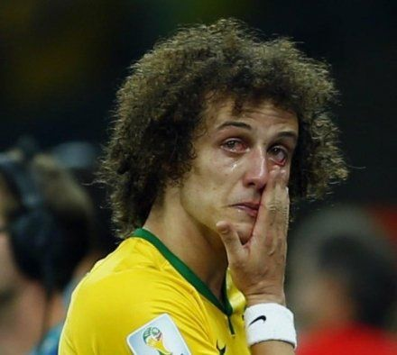 It was hard not to feel sorry for David Luiz after Brazil's 7-1 humbling at the hands of Germany in last night's World Cup semi-final. In tears: Brazil's David Luiz (Picture: Reuters) It was ...