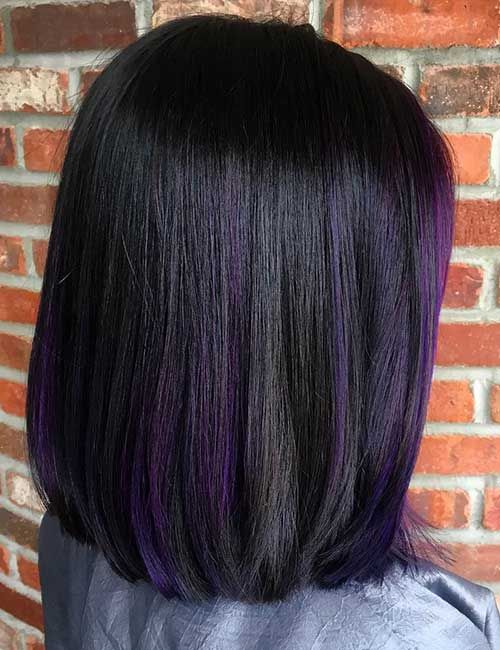 25 Subtle Purple Balayage On Black Hair Red Highlights