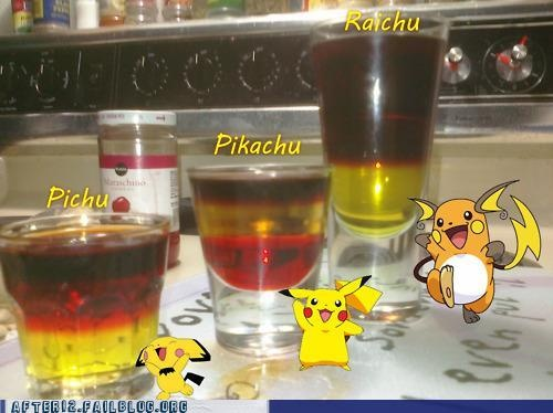 Pichu, Pikachu, Raichu (Pokemon Cocktails)
