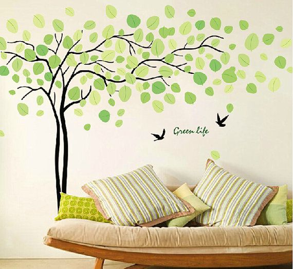 Tree Wall Sticker Wall Art Green Life Tree Wall By Walldecorative, $39.99