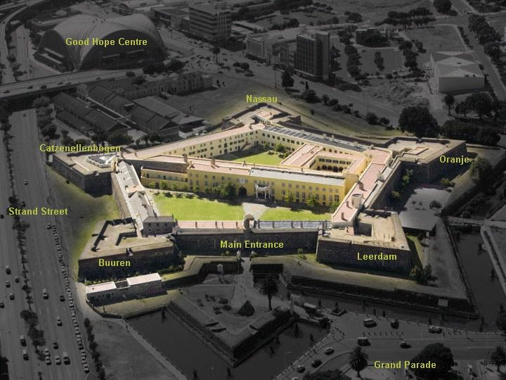 The Castle of Good Hope. Built between 1666 and 1679 by the Dutch East India Company (VOC) as a maritime replenishment station, the Castle of Good Hope is the oldest surviving colonial building in South Africa.