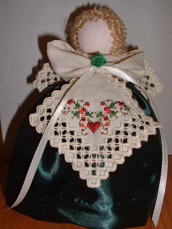 Hardanger Angel Christmas Ornament. $25.00, via Etsy.