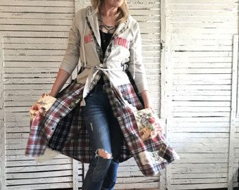Prairie Chic Coat S Upcycled Clothing for Women by AnikaDesigns