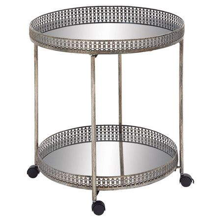 Display crisp cotton hand towels with this metal trolly.