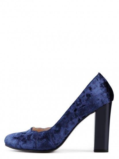 Pantofi de damă cu toc înalt TENDENZ - albastru inchis