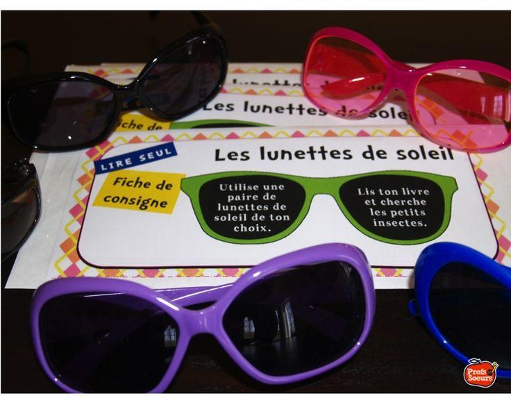 COMPOSANTE: Lire seul //avec des lunettes de soleil