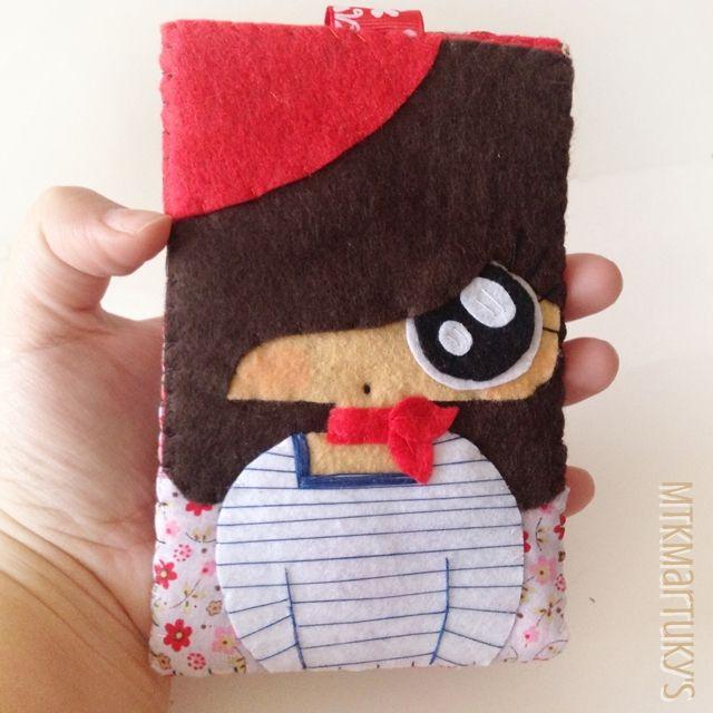 Funda de móvil MTK Parisina #felt #fieltro #mobile case #doll