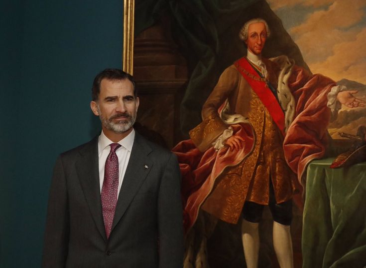"King Felipe attends the inauguration of the exhibition ""Charles III: external and scientific projection of an illustrated reign"", in Madrid 