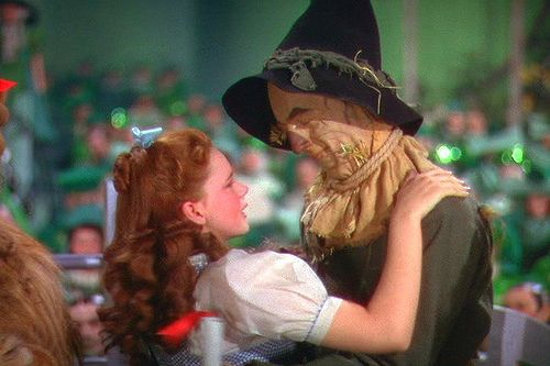 """I think I'll miss you most of all."" (Judy Garland and Ray Bolger in The Wizard of Oz)"