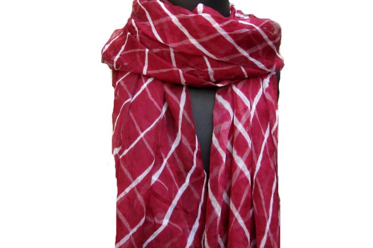 Tie and dye scarf/ poly chiffon scarf/ maroon scarf/ gift  scarf /  scarf/ light weight scarf /  gift ideas.