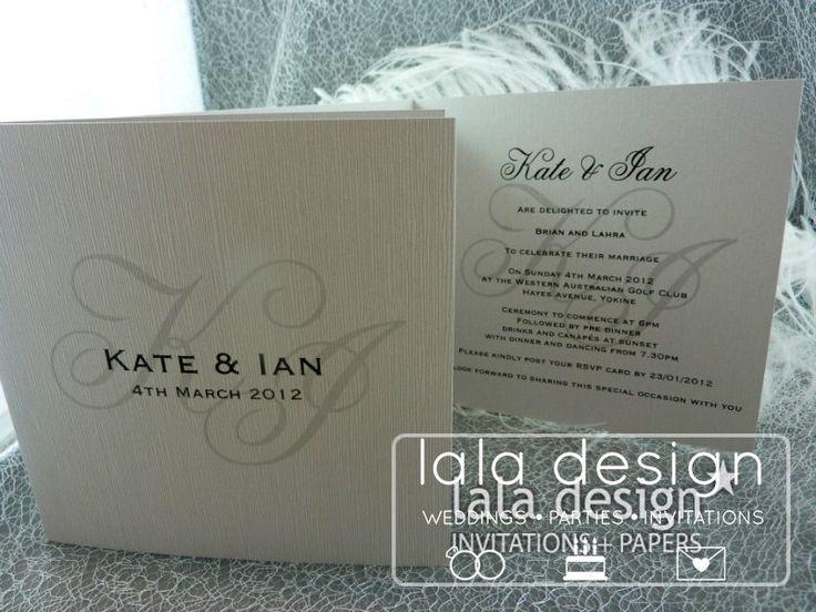 Simple black and grey graphic wedding invitation