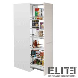 slide out kitchen pantry baskets with soft close