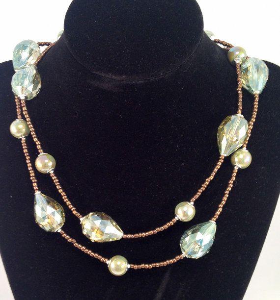 Collana in cristallo perle di ceramica ed di RoxaneItalianJewelry