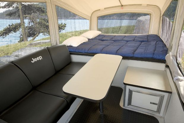 Jeep Camping Trailer..... I'm pretty sure I could live in this.
