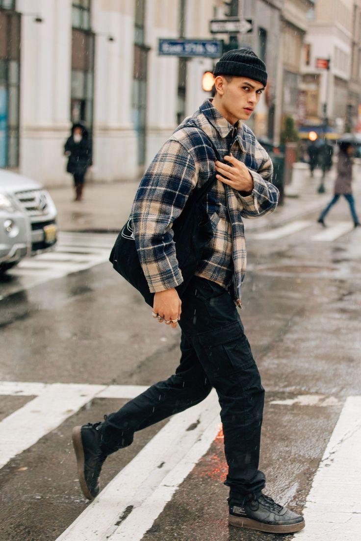 Den bästa mäns gatustil från New York Fashion Week