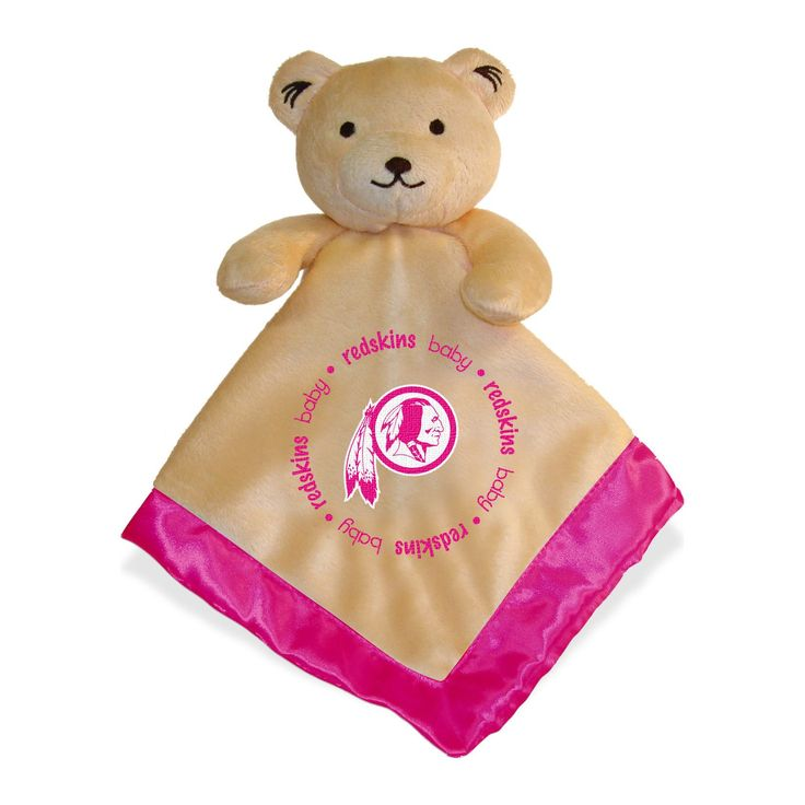 Washington Redskins Baby Security Blanket w/ Pink Logo