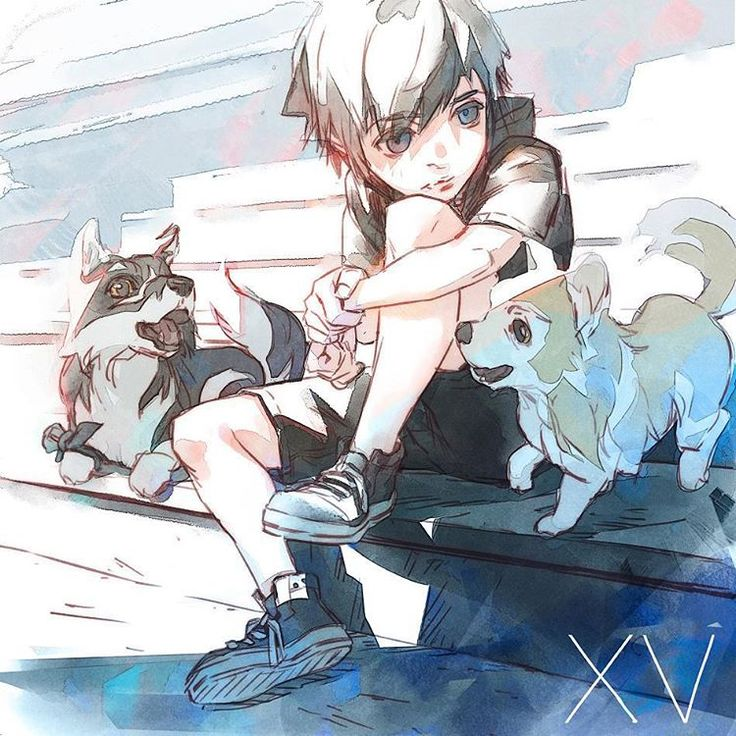 Young Noctis with Umbra and Pryna