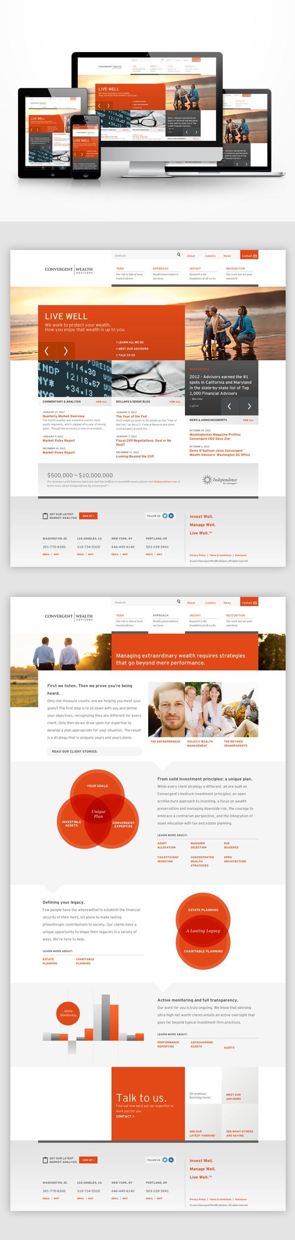 Convergent Wealth Advisors - Responsive website.  Designed by Sun Yun. #sunyun
